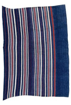 Africa | Wrapper from Ososo in Kogi state, Nigeria, and was worn by a young woman for a coming of age ceremony. Ososo people are northern Edo in ethnicity | Cotton