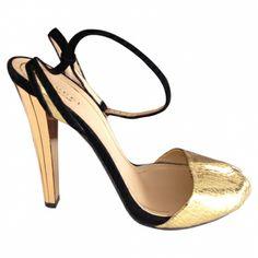 gold heel, shoe