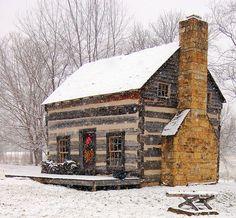 cottag, winter cabin, logs, dream, little cabin, snow, log cabins, christmas, hous