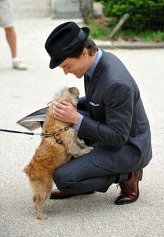 Matt Bomer + puppy = adorable overload