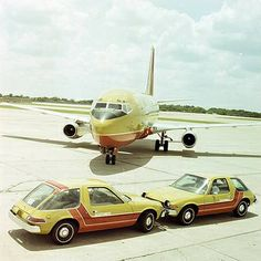 Southwest Airlines with matching 1972 AMC Pacers