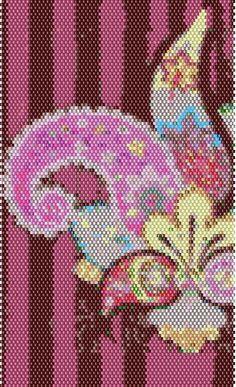 SCHEMAT/BEADING Colorful Paisley Peyote Stitch Bracelet Pattern