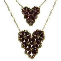 Beading designs and patterns that use the heart motif are always lovely, and this Pretty Beaded Heart Pendant Pattern is the loveliest of all. Worked up in a gorgeous palette of garnet and bronze, this sweet bead pattern is sure to steal your heart.