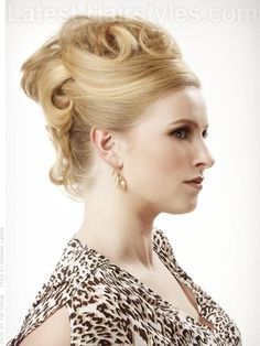French Twist Updo with Volume Side View