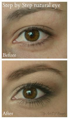The Art Of Beauty: Make Up Monday ~ Natural Eye - Step by Step