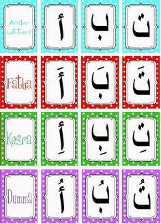 free printable arabic alphabet cards with harakat