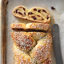 Cranberry Orange Braided Bread: subtle orange flavor and a sweet fruit and nut filling