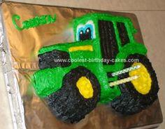 John Deere Tractor Cake Pan Instructions