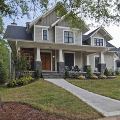 Exterior craftsman style Design Ideas, Pictures, Remodel and Decor