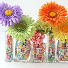 Easter floral arrangement idea.