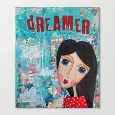 Coco's Closet- Dreamer Stretched Canvas by Coco's Closet - $85.00