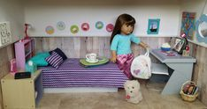 American Girl Doll Crafts and Fun!: DIY Project/Doll Room Tour