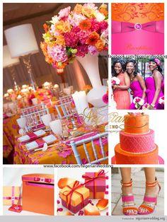 june wedding colors   nigerian wedding fuchsia pink and orange wedding color scheme 6. I like all of them