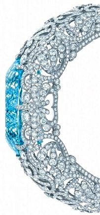 Tiffany aquamarine & diamond bangle