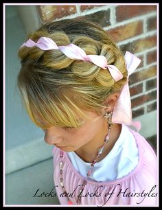 Braided Ribbon Headband: for when my girls have SUPER long hair