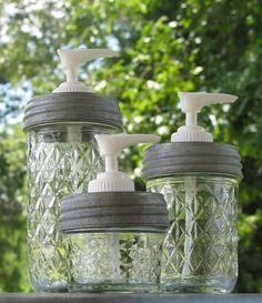 Mason Jar Soap Dispensers.