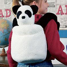 Crochet Panda Backpack
