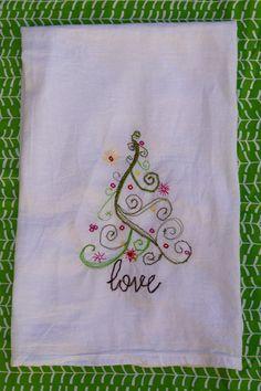 How to embroider a tea towel | Skip To My Lou