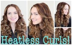 Easy Heatless Curls Tutorial