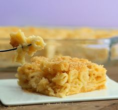 No Cheese Mac and Cheese.  So creamy and cheesy, this recipe might be the healthiest macaroni and cheese in the world. I've made it three times already... it is awesome! http://chocolatecoveredkatie.com/2012/12/09/vegan-macaroni-and-cheese/