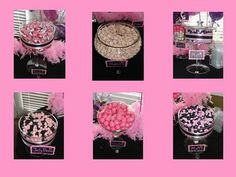 The Amazing Candy Buffets and Fun Food Designers of Sugar Bunch Creations: Bailey's Pink and Black Candy Buffet