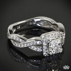 Diamond Braid Diamond Engagement Ring with 0.712 A CUT ABOVE Princess