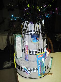 Adult Diaper Cake for 40th B-day (side & back)