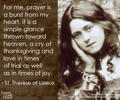 St Therese Quotes On Suffering Quotesgram