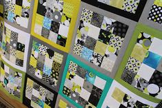 16 patch quilt- Quilting is more fun than Housework