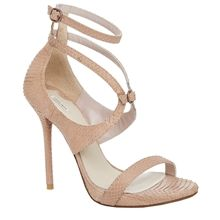 ETNA - SNAKESKIN ANKLE WRAP SANDALS