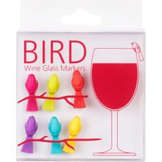 bird wine charms! so cute and perfect for the wine glasses w/o stems!