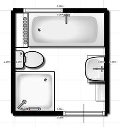 Badkamer on pinterest met concrete bathroom and nobodys perfect for Plan kleine badkamer