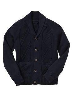 Uniform shawl cardigan   Gap