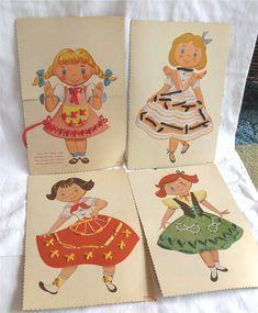 Vintage Toy Sewing Cards / Vintage Childrens by LemonTreeVintage