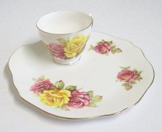 Vintage Royal Vale Tennis/Snack Set Shabby Chic by TheWhistlingMan, £10.00