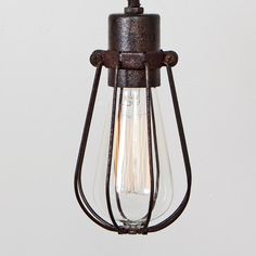 CAGE ONLY Oval Wire Bulb Cage Pendant Sold by FleaMarketRx on Etsy, $42.00