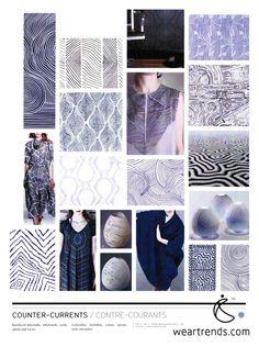 NellyRodi Print SS15. Counter-Currents. Interlaced labyrinths, whirlwinds, swirls, spirals & waves.