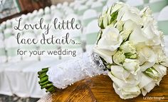 You know we're all about that lace ... #lace #wedding details, that is! | Today's Bride