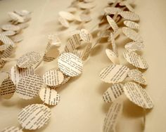Wedding paper garlands Recycled vintage paper by CoutureByAyca, $14.00