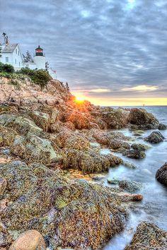 Bass Harbor Lighthouse Sunrise    Bass Harbor Lighthouse at Sunrise, Acadia National Park, Maine