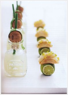 Mini bottles of Patron and tacos