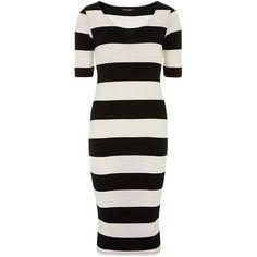 Dorothy Perkins Ivory black tube dress found on Polyvore