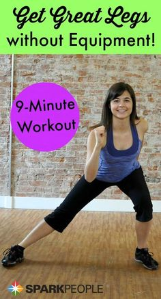 Tone your entire lower body with ZERO equipment! Find 9 minutes in your day to do this--it's a burner!   via @SparkPeople #fitness #health #exercise #workout