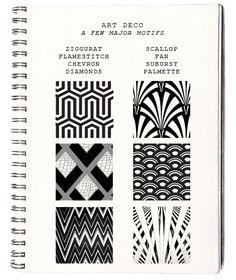 art deco: motifs