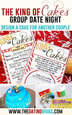 Fun Date Night Idea: get creative with cake-making for another couple on this date night! I know just who I want to do this with!