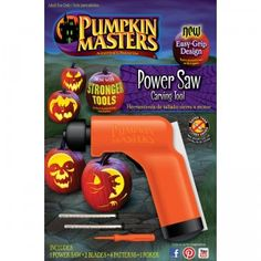 A battery-operated handheld pumpkin-carving tool that allows you to easily make intricate patterns in your pumpkins.