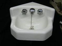 Victorian Corner Sink : vintage corner sink Vintage-Bathroom-Corner-Sink-Small-Kolher-Cast ...