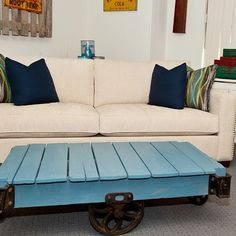 Cooper Sofa & Pallet Coffee Table!