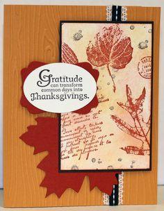 Stampin' Up! Fall/ Thanksgiving card