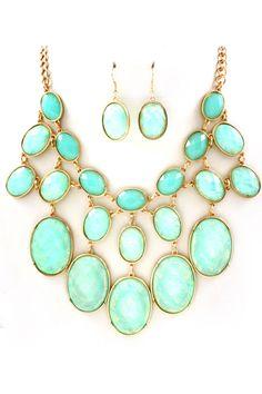 Ocean Blue Vitrail Etta Necklace